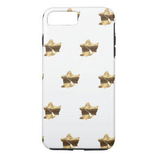 Elegant White Gold Look Christmas Bells Pattern iPhone 8 Plus/7 Plus Case