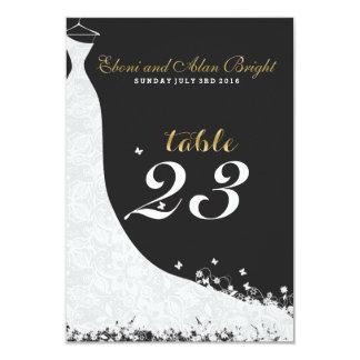 Elegant White Lace Wedding Dress Table 23 Card