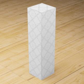Elegant White Lace Wine Gift Box