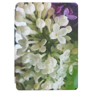 Elegant white lilac blossom photo iPad air cover