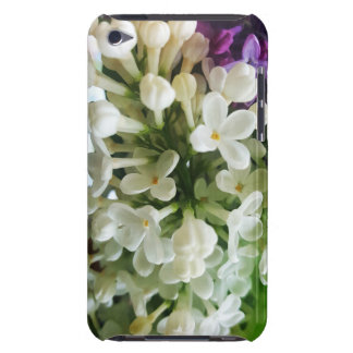 Elegant white lilac blossom photo iPod touch case