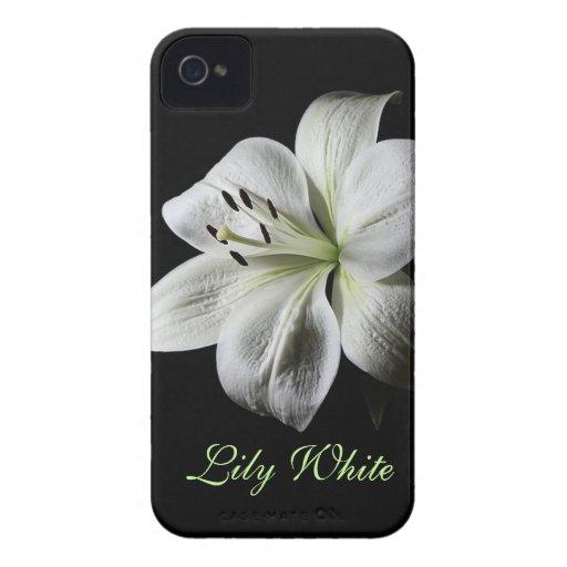 Elegant White Lily Blackberry Bold case
