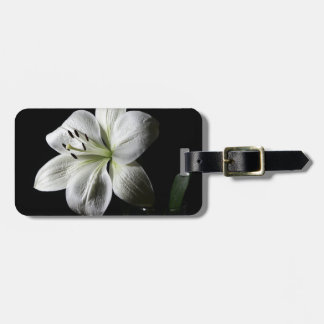 Elegant White Lily Luggage Tag