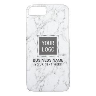 Elegant White Marble Corporate Custom Logo iPhone 8/7 Case