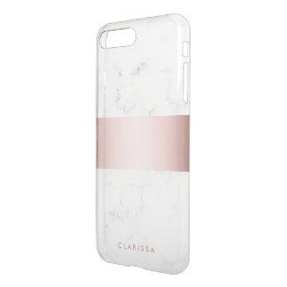 elegant white marble rose gold faux strip iPhone 8 plus/7 plus case