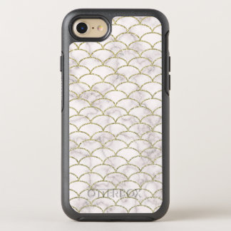 Elegant White Marble with Gold Scales OtterBox Symmetry iPhone 8/7 Case