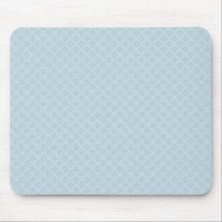 Elegant white octagonal pattern on rough light blu mouse pad
