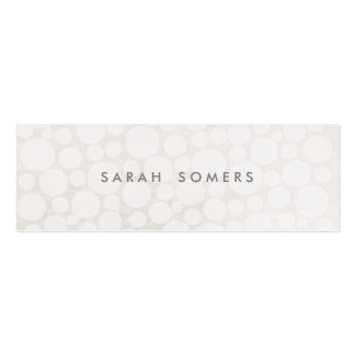 Elegant White on White Subtle Circle Pattern 2 Pack Of Skinny Business Cards