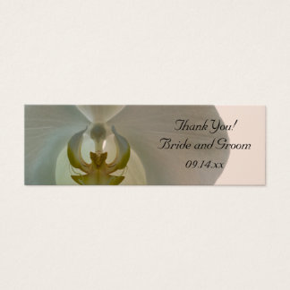 Elegant White Orchid Wedding Favor Tags