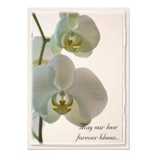 Elegant White Orchids Wedding Invitation