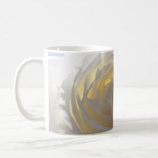 Elegant White Rose Coffee Mug