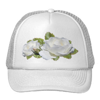 Elegant White Roses Hats