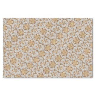 Elegant White Rustic Kaleidoscope Flower Design Tissue Paper