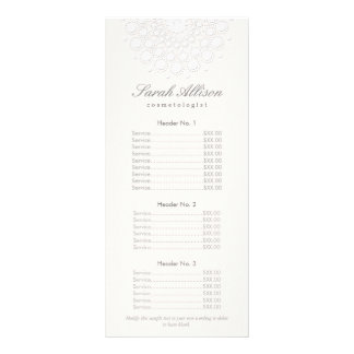 Elegant White Salon and Spa Price List Rack Card Template
