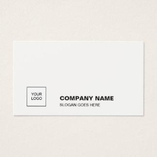 Elegant White Smart Plain Professional Corporate Business Card