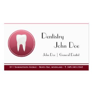 Elegant white teeth dentist dental business card