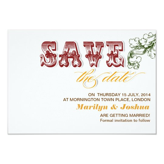 elegant white vintage save the date invitations