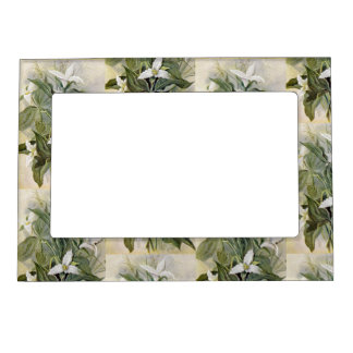 Elegant Wildflower Magnetic Picture Frame | Green