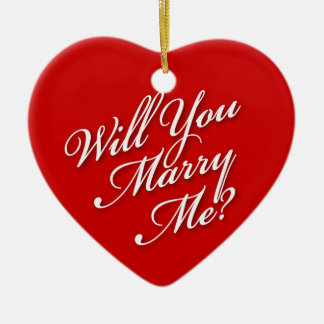 Elegant Will You Marry Me Ornaments