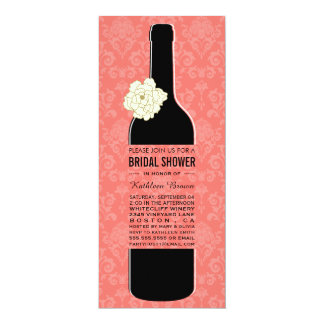 Elegant Wine Bridal Shower Invitations