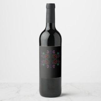 Elegant wine label Black Folk