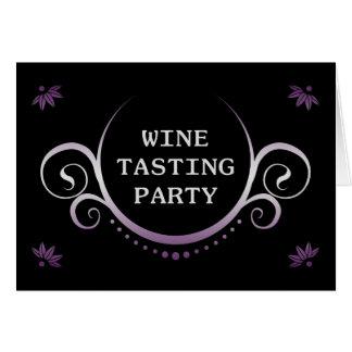 elegant wine tasting party invitations greeting card