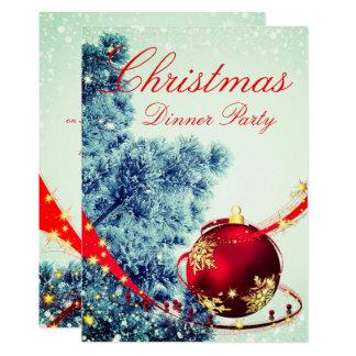 Elegant Winter Christmas Dinner Invite