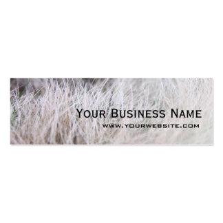 Elegant Winter Grass Mini Business Card