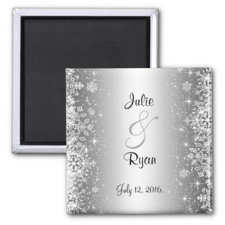Elegant winter Save the date Magnet