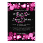 Elegant Winter Wedding Pink Lights Card