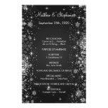 "elegant winter Wedding Program Flyer 5.5"" x 8.5"""