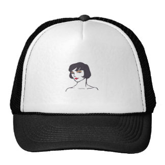 ELEGANT WOMAN TRUCKER HAT