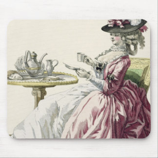 Elegant Woman in a Dress 'a l'Anglaise' Drinking C Mouse Pad