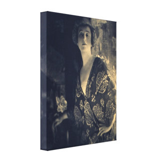 Elegant Woman's Fashion Early 1900s Canvas Print