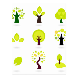 Elegant wonderful green Trees Postcard