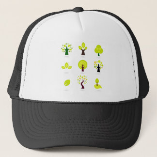 Elegant wonderful green Trees Trucker Hat