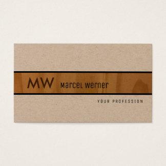 elegant wood rustic kraft premium pro business card