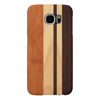 Elegant Wood Stripes Wood Grain Pattern Samsung Galaxy S6 Cases