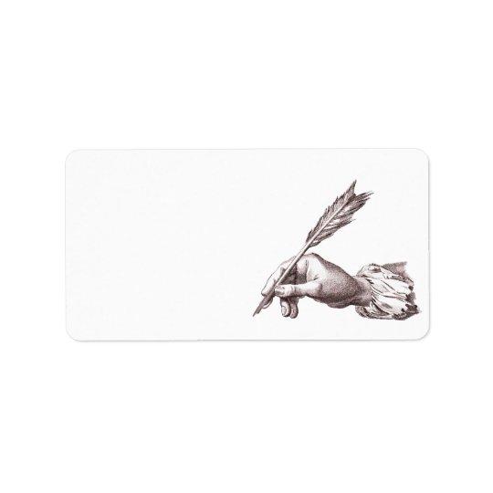 Elegant Writer's Hand for Calligrapher, Author etc Label