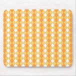 Elegant yellow argyles mousepad