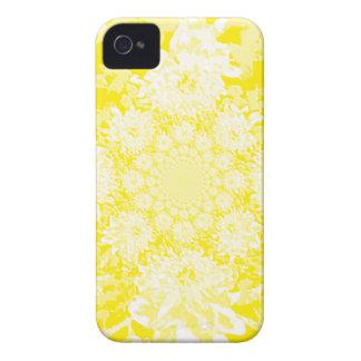 Elegant  Yellow  Floral Dahlia Flower Pattern iPhone 4 Case