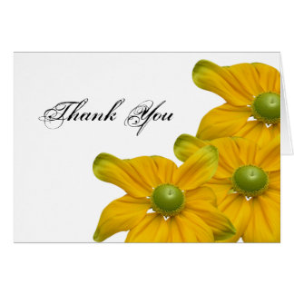 Elegant Yellow Floral Thank You Card