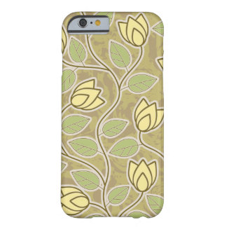 Elegant yellow Flowers Pattern Barely There iPhone 6 Case