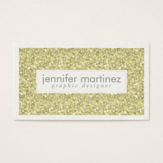 Elegant Yellow Gold Tones Glitter & Sparkles 3 Business Card