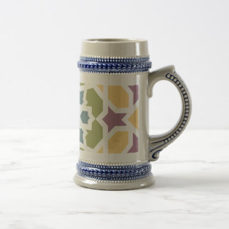 Elegant yellow green Moroccan geometry and lilac Mugs