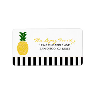 Elegant Yellow Pineapple Address Label