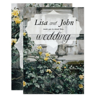 Elegant Yellow Roses Wedding Invitation