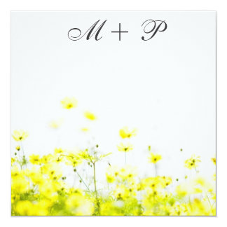 Elegant Yellow Wildflowers Wedding Invitation