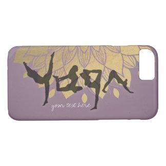 Elegant Yoga Human Alphabet Letters Gold Flower iPhone 8/7 Case