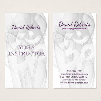 Elegant Yoga Instructor Om Symbol Business Card